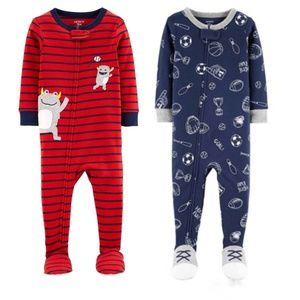 NEW NWT set of 2 Carter's cotton footies size 18m